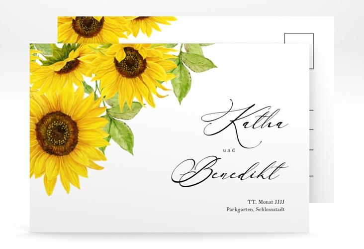 "Save the Date-Postkarte ""Sonnenblume"" A6 Postkarte"