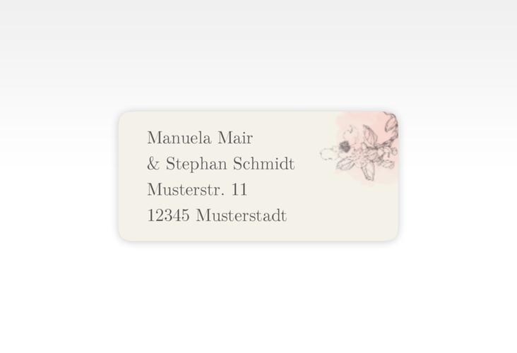 """Absenderetikett Hochzeit """"Artlover"""" 45,7 x 21,2 mm rosa"""