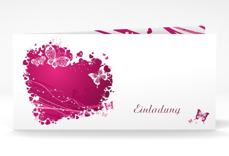 """Hochzeitseinladung """"Mailand"""" DIN lang Klappkarte"""