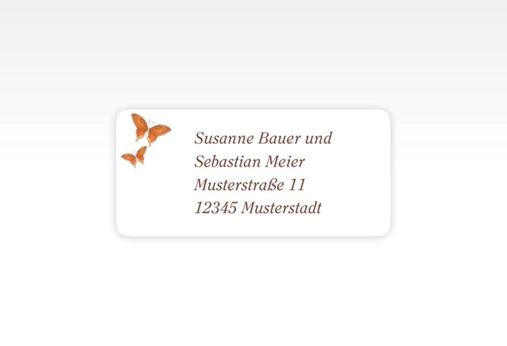 """Absenderetikett Hochzeit """"Toulouse"""" 45,7 x 21,2 mm orange"""