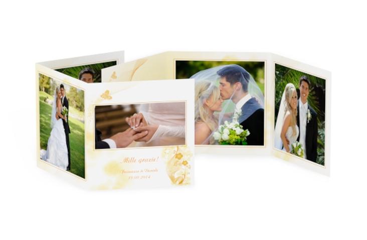 Ringraziamenti matrimonio collezione Ravenna Quadr. Karte doppelt