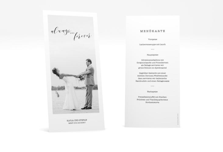 "Menükarte Hochzeit ""Photoframe"" DIN lang hoch"