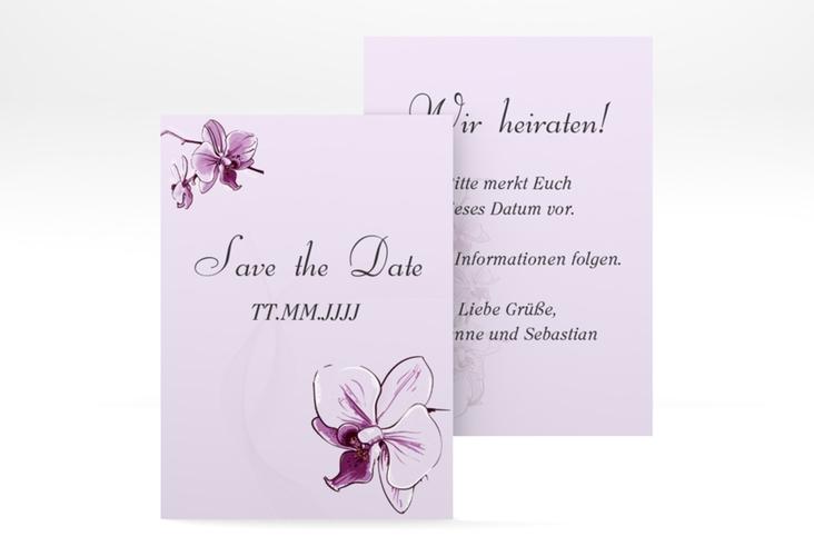 "Save the Date-Visitenkarte ""Modena"" Visitenkarte lila"