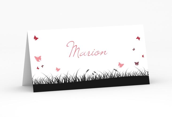 """Tischkarte Hochzeit """"Rouen"""" Tischkarten schwarz"""