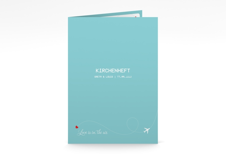 "Kirchenheft Hochzeit ""Weddingpass"" DIN A5 geklappt blau"