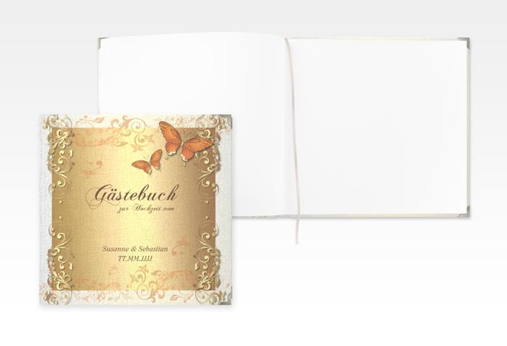 "Gästebuch Selection Hochzeit ""Toulouse"" Hardcover orange"