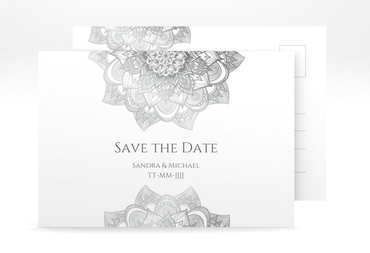 "Save the Date-Postkarte ""Delight"" A6 Postkarte grau"