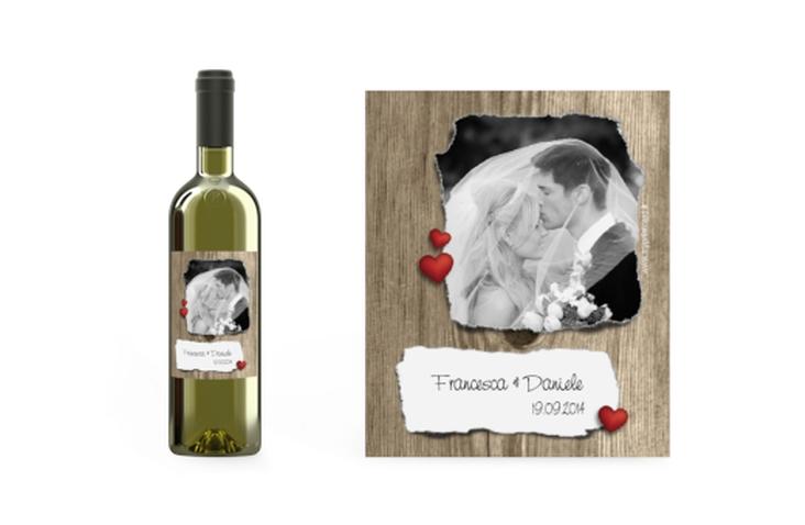 Etichetta vino matrimonio collezione Augusta Etikett Weinflasche 4er Set