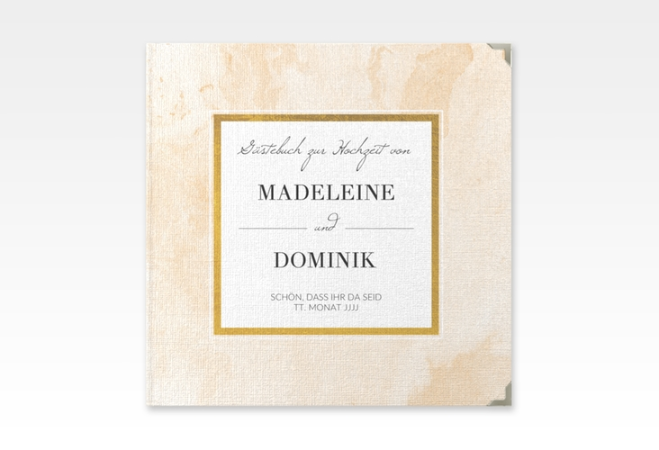 """Gästebuch Selection Hochzeit """"Marble"""" Hardcover beige"""