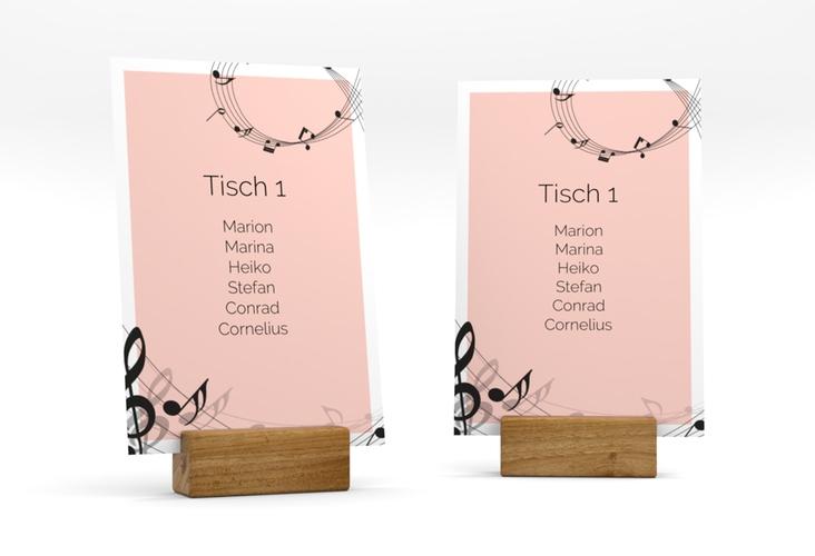 """Tischaufsteller Hochzeit """"Melody"""" Tischaufsteller rosa"""