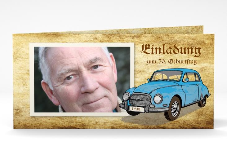 """Einladungskarte """"Friedrich"""" DIN lang Klappkarte"""