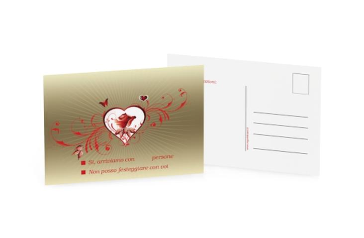 Biglietti risposta matrimonio collezione Bari A6 Postkarte
