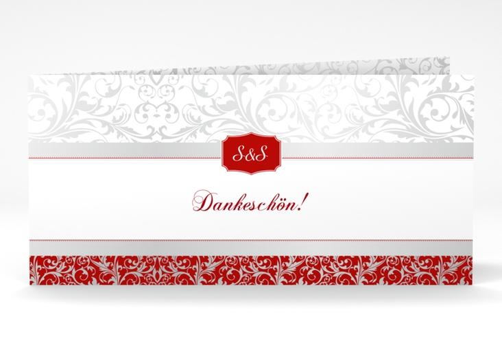 "Dankeskarte Hochzeit ""Latina"" DIN lang Klappkarte rot"