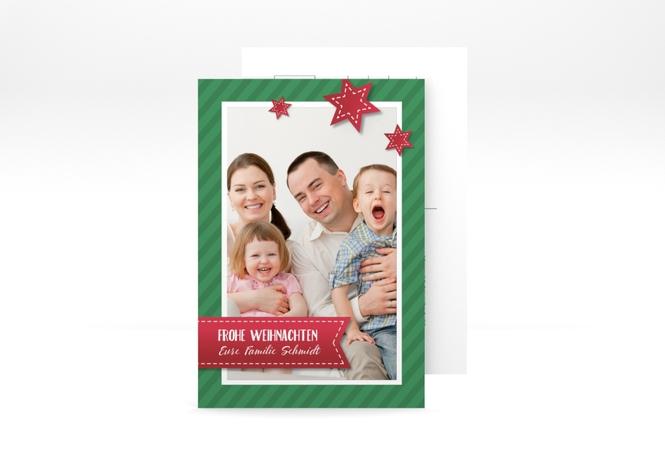 "Weihnachtskarte ""Sternenband"" A6 Postkarte"