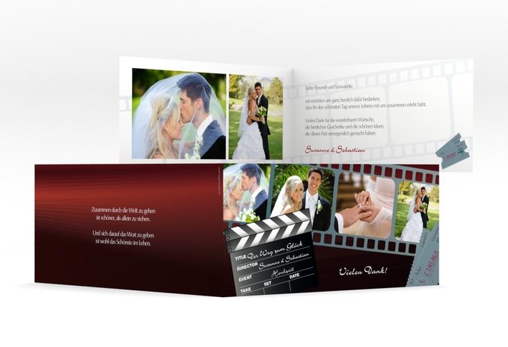 """Dankeskarte Hochzeit """"Bottrop"""" DIN lang Klappkarte"""