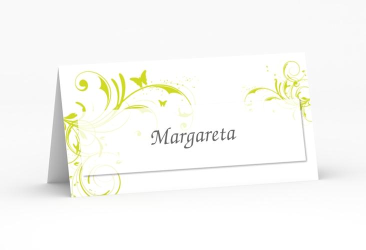 """Tischkarte Hochzeit """"Palma"""" Tischkarten gruen"""