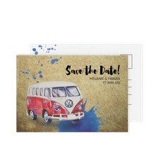 """Save the Date-Postkarte """"Bulli"""""""