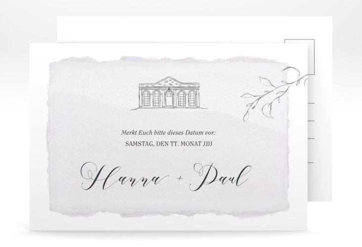 """Save the Date-Postkarte """"Villa"""" A6 Postkarte"""