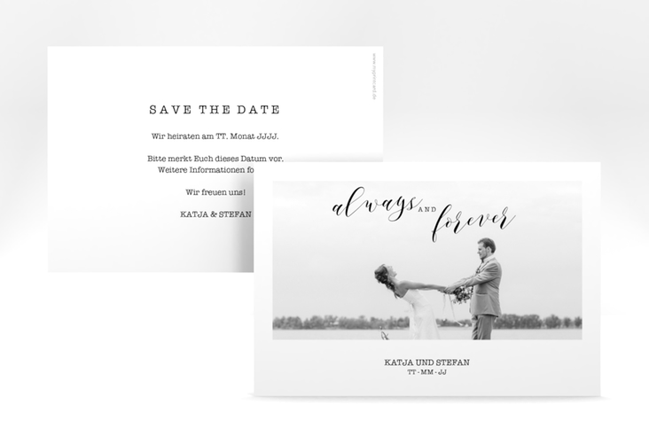 "Save the Date-Karte ""Photoframe"" A6 quer"