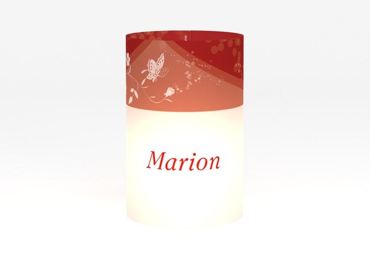 """Windlicht Hochzeit """"Verona"""" Windlicht rot"""