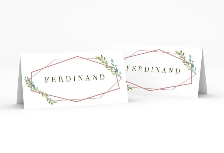 """Tischkarte Hochzeit """"Herbarium"""" Tischkarten rosa"""