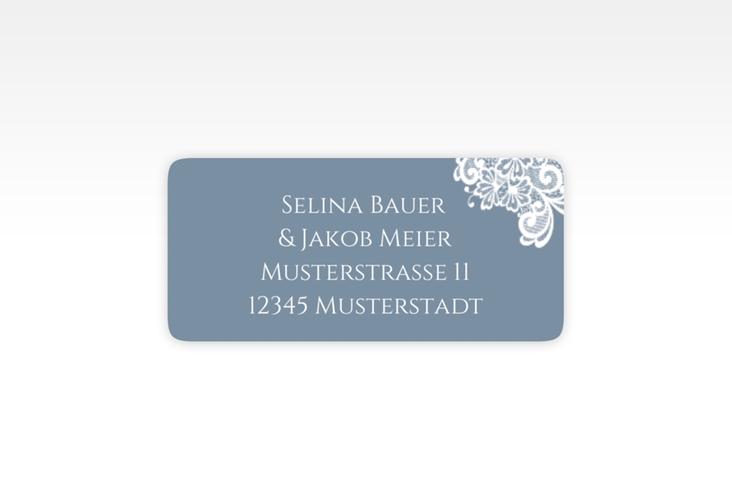 """Absenderetikett Hochzeit """"Vintage"""" 45,7 x 21,2 mm blau"""