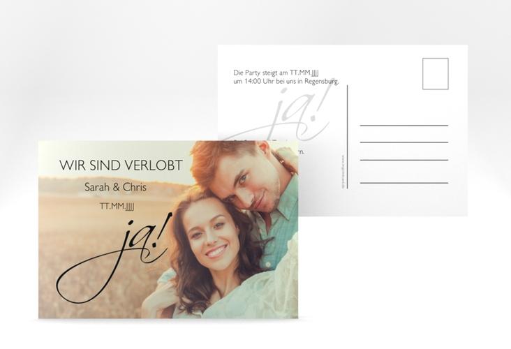 "Verlobungskarte Hochzeit ""Clarity"" A6 Postkarte"