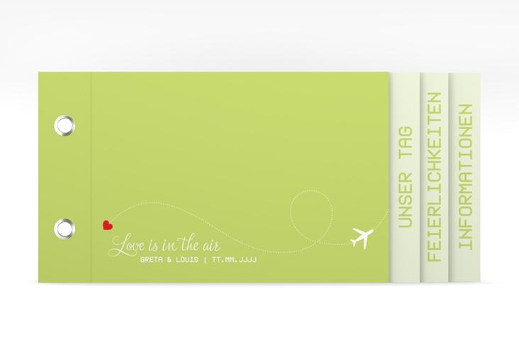 """Hochzeitseinladung """"Weddingpass"""" Booklet gruen"""