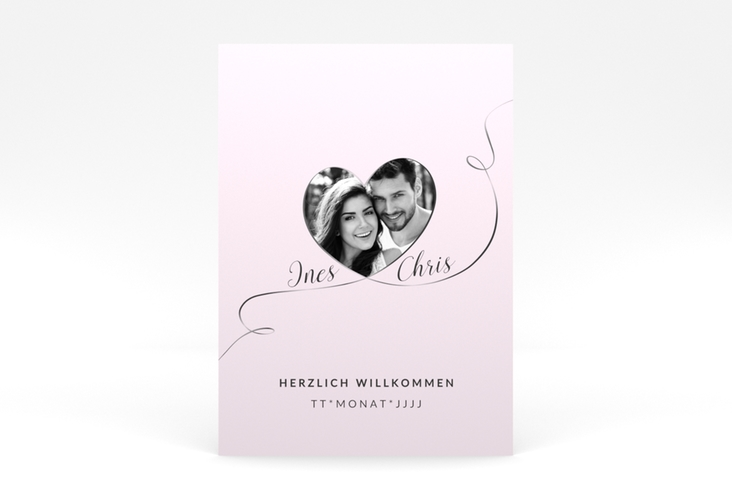 "Willkommensschild Leinwand ""Dolce"" 50 x 70 cm Poster rosa"