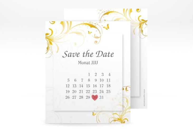 "Save the Date-Kalenderblatt ""Palma"" Kalenderblatt-Karte gold"