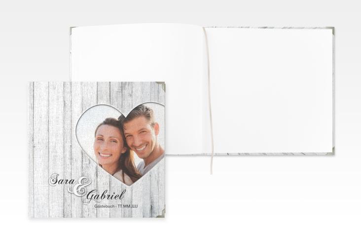 """Gästebuch Selection Hochzeit """"Herz"""" Leinen-Hardcover"""