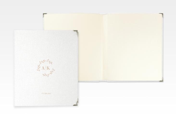 """Hochzeitsalbum """"Filigrana"""" 21 x 25 cm beige"""
