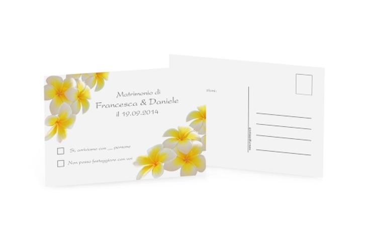 Biglietti risposta matrimonio collezione Napoli A6 Postkarte