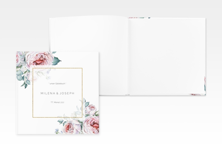 "Gästebuch Creation ""Embrace"" 20 x 20 cm, Hardcover weiss"