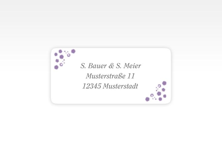 """Absenderetikett Hochzeit """"Triest"""" 45,7 x 21,2 mm lila"""