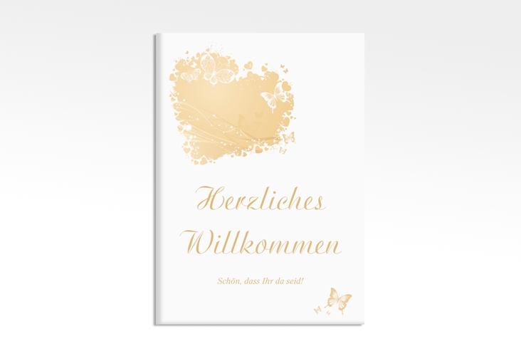 """Willkommensschild Leinwand """"Mailand"""" 50 x 70 cm Leinwand beige"""