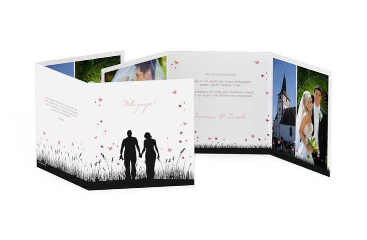 Ringraziamenti matrimonio collezione Rouen Quadr. Karte doppelt