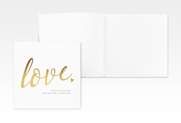 "Gästebuch Creation ""Glam"" 20 x 20 cm, Hardcover weiss"