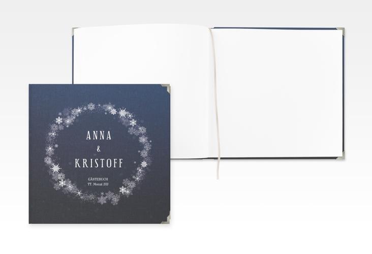 """Gästebuch Selection Hochzeit """"Winterdream"""" Leinen-Hardcover"""