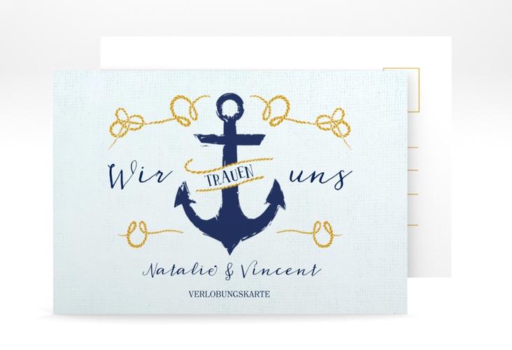 "Verlobungskarte Hochzeit ""Anker"" A6 Postkarte"