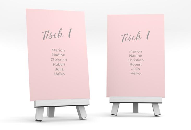 """Tischaufsteller Hochzeit """"Traufe"""" Tischaufsteller rosa"""
