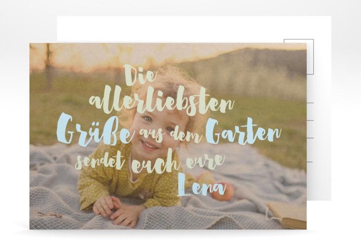 "Grußkarte ""Gartenurlaub"" A6 Postkarte gruen"