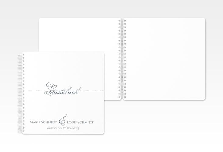 """Gästebuch Hochzeit """"Pure"""" Ringbindung grau"""