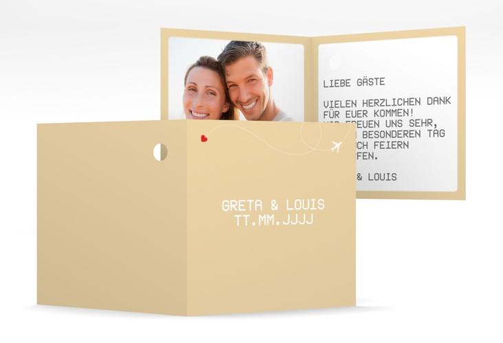 """Geschenkanhänger Hochzeit """"Weddingpass"""" Geschenkanhänger 10er Set beige"""