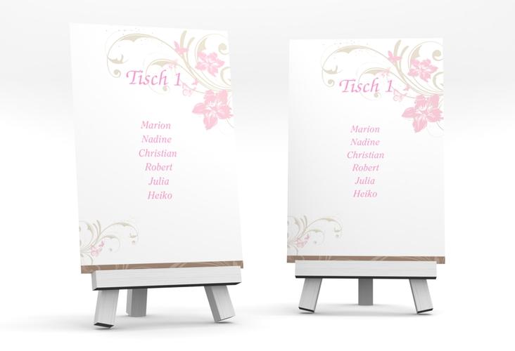 """Tischaufsteller Hochzeit """"Parma"""" Tischaufsteller rosa"""