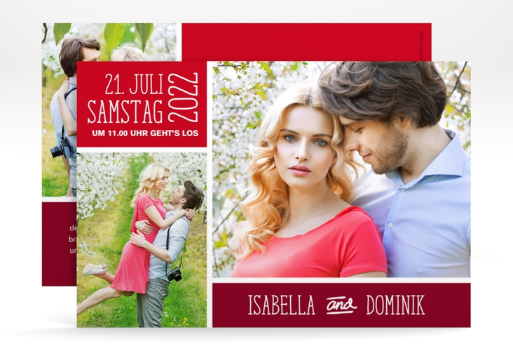 """Save the Date-Karte """"Gallery"""" A6 quer"""