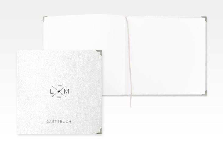 """Gästebuch Selection Hochzeit """"Initials"""" Leinen-Hardcover schwarz"""