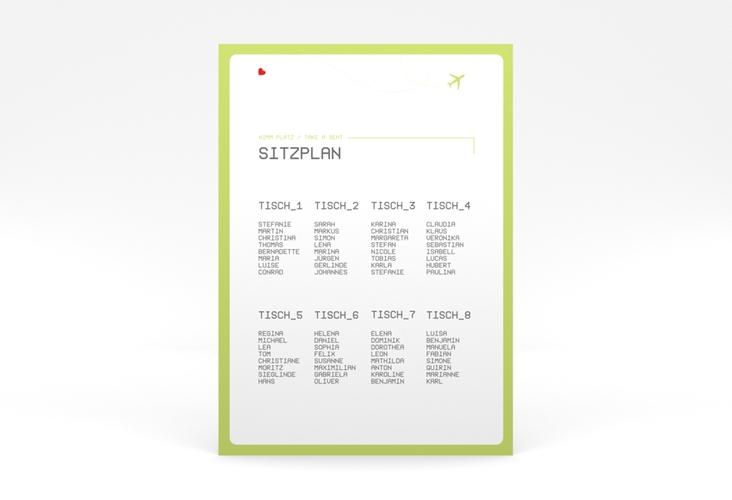 """Sitzplan Poster Hochzeit """"Weddingpass"""" 50 x 70 cm Poster gruen"""