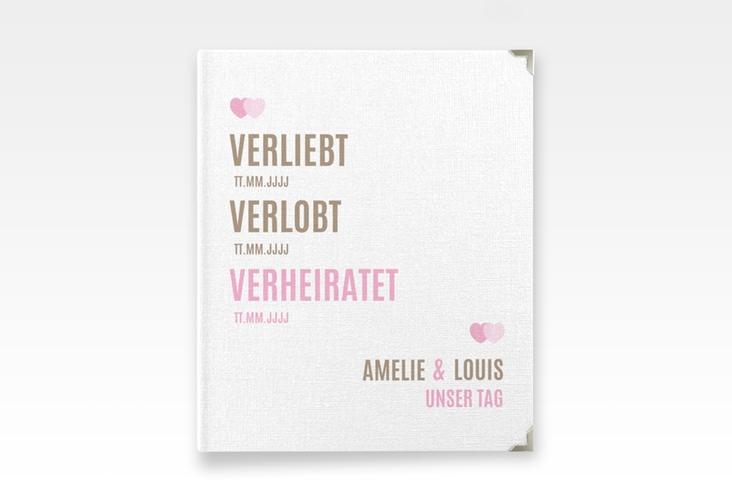 "Hochzeitsalbum ""Couple"" 21 x 25 cm rosa"
