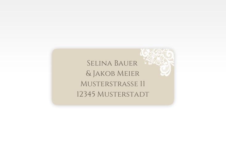 """Absenderetikett Hochzeit """"Vintage"""" 45,7 x 21,2 mm beige"""